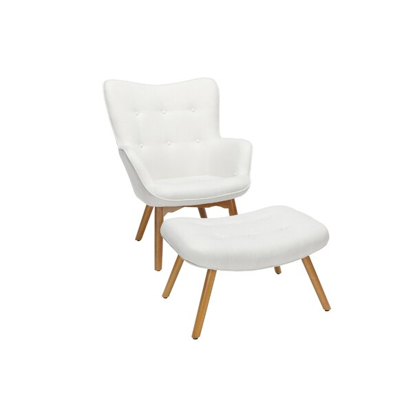 Bello Mid Century Modern Lounge Chair and Ottoman by George Oliver