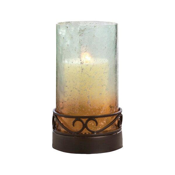 Modern Glass Hurricane by Fleur De Lis Living