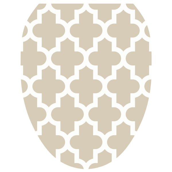 Quatrefoil Toilet Seat Decal by Toilet Tattoos