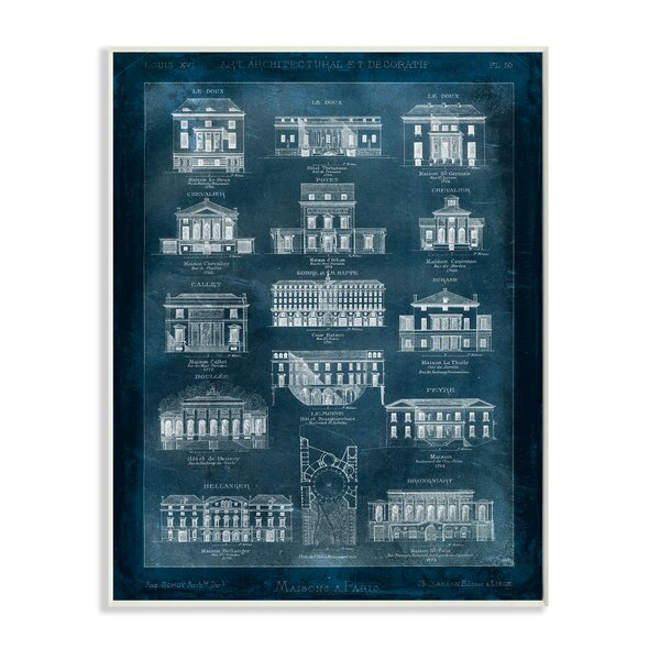 Blueprint Of Houses Graphic Art Print by Stupell Industries