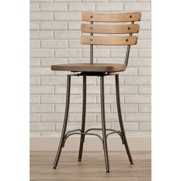 Shanta 25.5 Swivel Bar Stool by 17 Stories