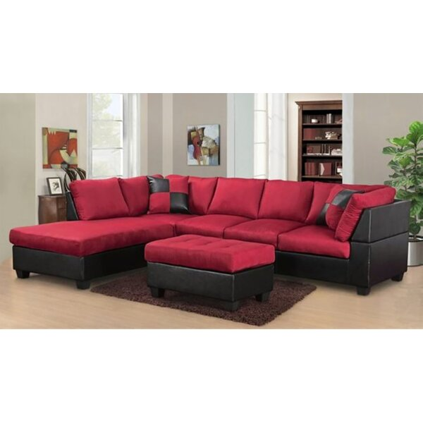 Barter Reversible Sectional with Ottoman by Ebern Designs