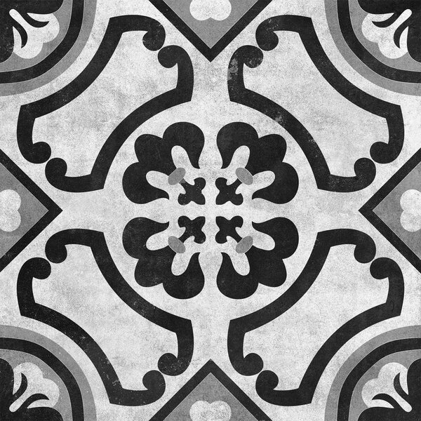 Cementine 16 x 16 Ceramic Field Tile in Contrast Circoli by Interceramic