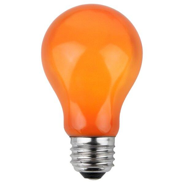 25W Orange 130-Volt Light Bulb (Pack of 25) by Wintergreen Lighting