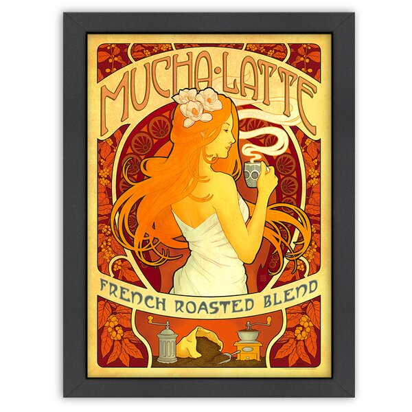 Mucha Latte Framed Vintage Advertisement by East Urban Home