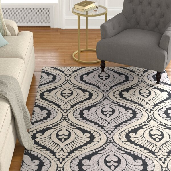 Mangus Black/Ivory Area Rug by Astoria Grand