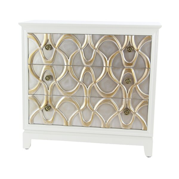 Alverez 3 Drawer Accent Cabinet by House of Hampton