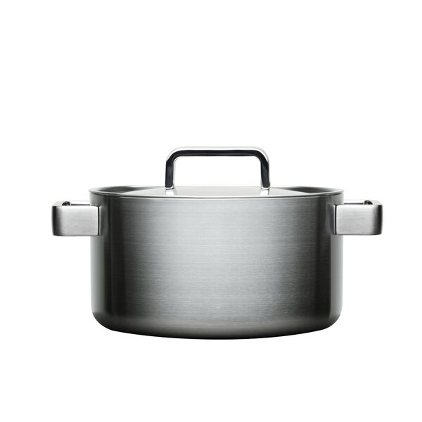 Tools Round Stainless Steel 4 Qt. Casserole With Lid by Iittala