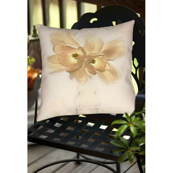 Lovely Tulip Indoor/outdoor Throw Pillow By Manual Woodworkers & Weavers.