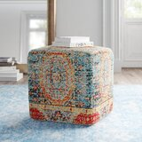 Cheekwood 18 Square Pouf Ottoman by Feminine French Country