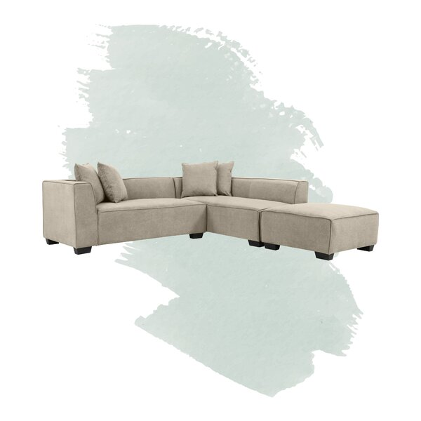 Daria 134-inch Modular Sectional With Ottoman By Foundstone