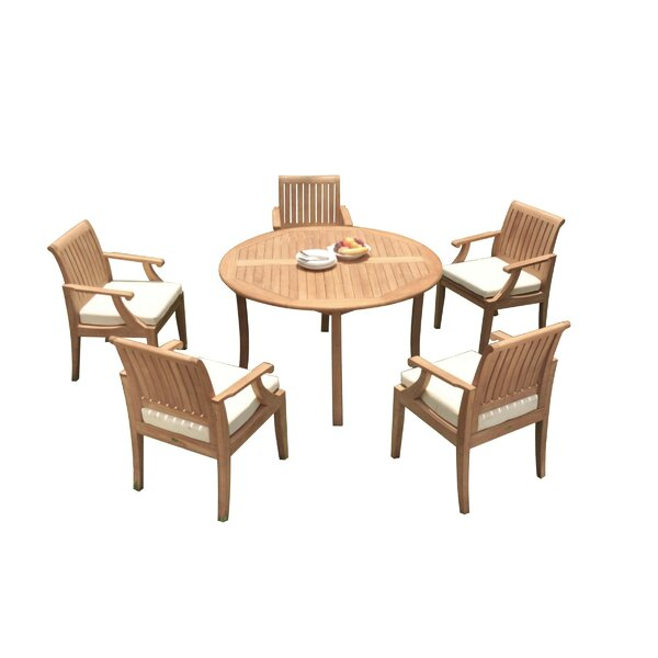 shelley 6 Piece Teak Dining Set by Rosecliff Heights