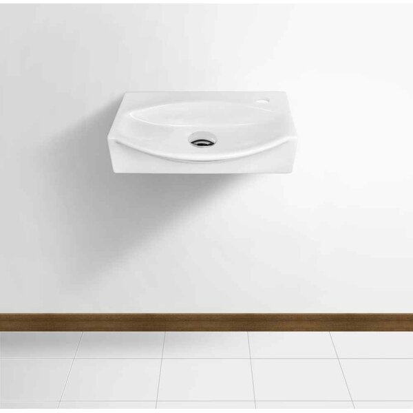 Ceramic 16.5 Bathroom Sink with Faucet