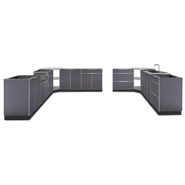 Kitchen 11 Piece Outdoor Bar Center Set by NewAge Products