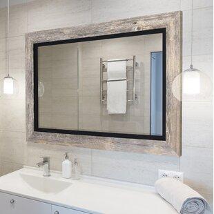 gray bathroom mirror frame hilde bathroom mirror mirrors birch lane