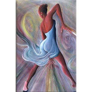 Blue Dress Painting Print on Wrapped Canvas by Andover Mills