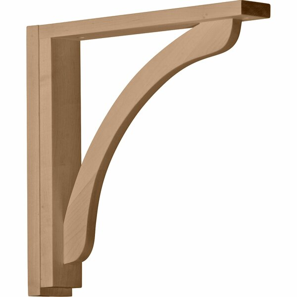 Reece 14 1/4H x 2 1/2W x 14 3/4D Shelf Bracket in Rubberwood by Ekena Millwork
