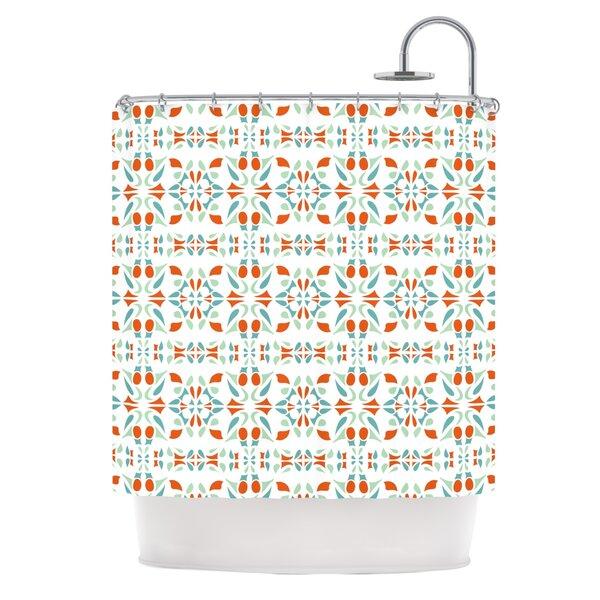 Italian Kitchen Orange Shower Curtain by KESS InHouse