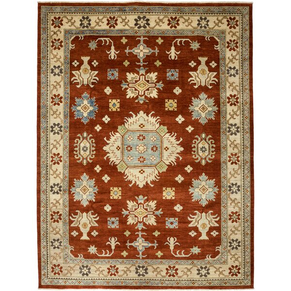 One-of-a-Kind Kazak Hand-Knotted Red Area Rug by Solo Rugs