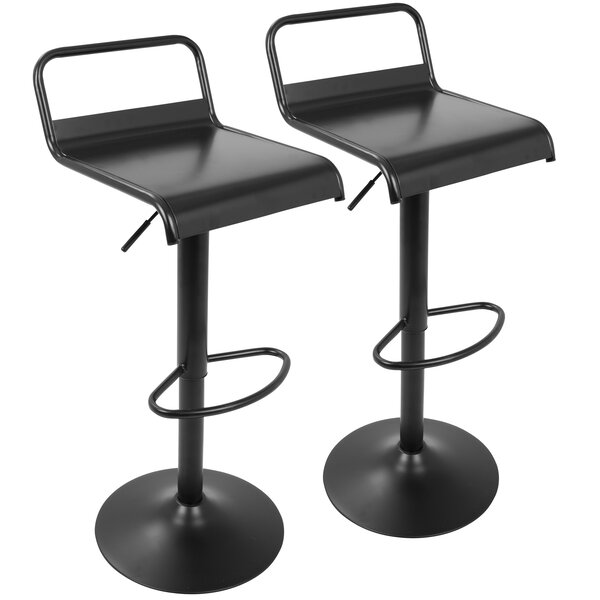 Franky Adjustable Height Swivel Bar Stool (Set of 2) by Zipcode Design