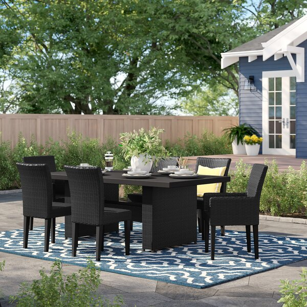Fernando 7 Piece Dining Set with Cushions by Sol 72 Outdoor
