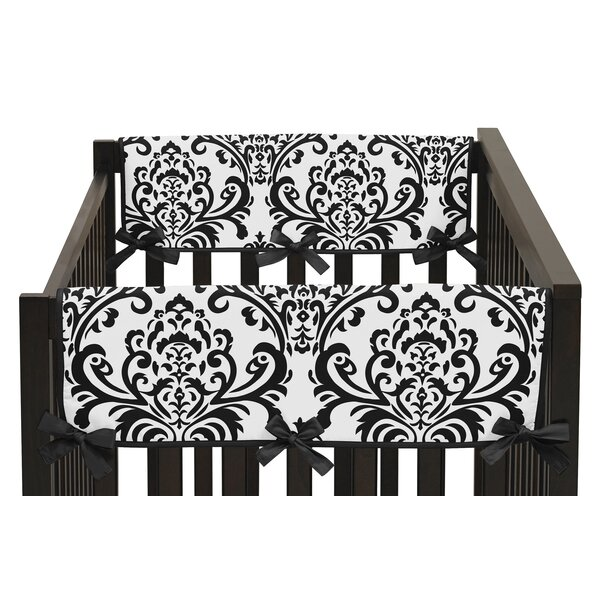Isabella Damask Print Side Crib Rail Guard Cover (Set of 2) by Sweet Jojo Designs