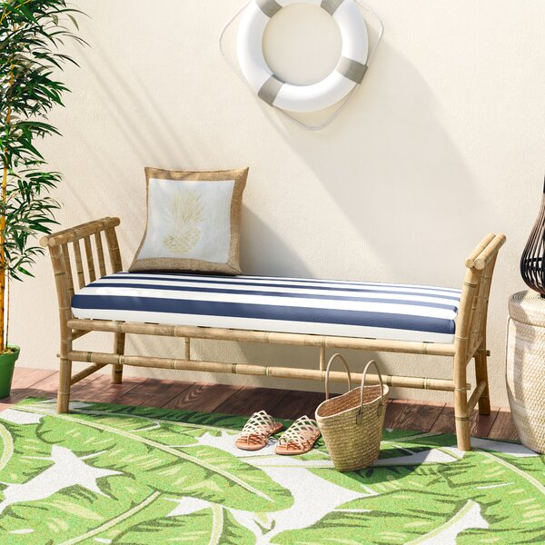 Grosvenor Bamboo Patio Daybed with Mattress by Bay Isle Home