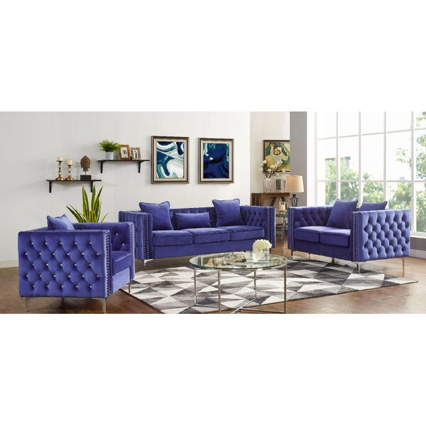Magnuson 3 Piece Living Room Set by House of Hampton