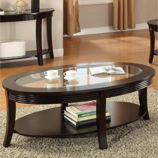 Gardin Solid Wood Coffee Table Ebern Designs