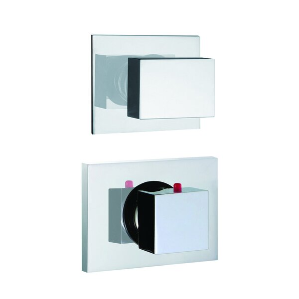 Brick Chic Built-In Thermostatic Valve Trim with One Volume Control Handle by Fima by Nameeks