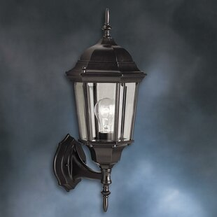 Shop for Allmon 1-Light Outdoor Beveled Glass Shade Wall Lantern By Astoria Grand