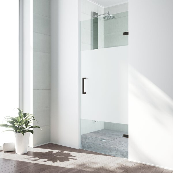 SoHo 28.5 x 70.63 Hinged Frameless Shower Door by VIGO