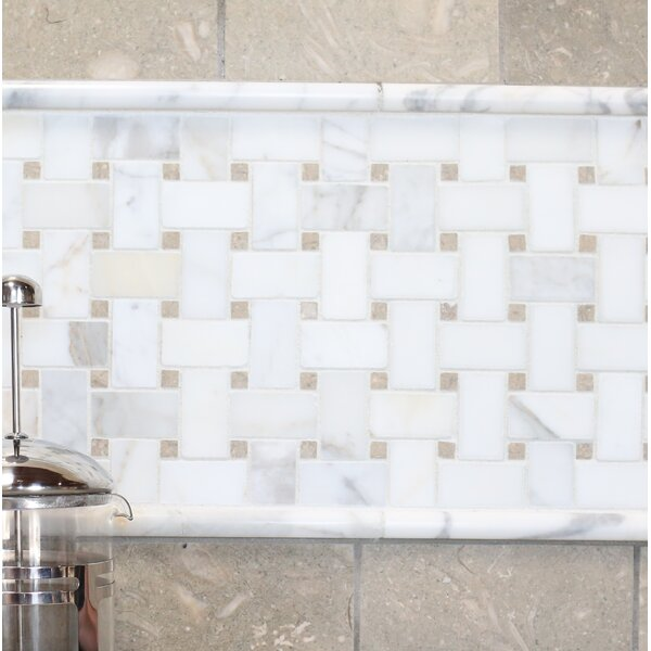 Basket Weave Honed Marble Mosaic Tile in Hillcrest by Grayson Martin