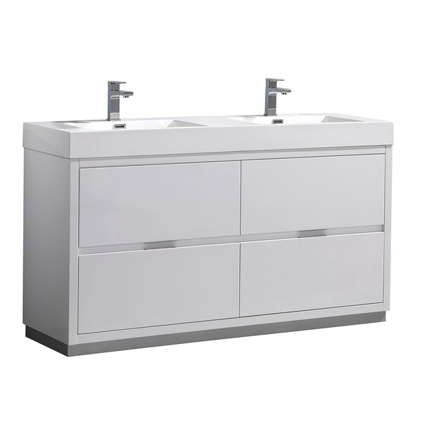 Senza Valencia 60 Double Bathroom Vanity Set by Fresca