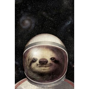 Space Sloth Graphic Art on Wrapped Canvas by East Urban Home