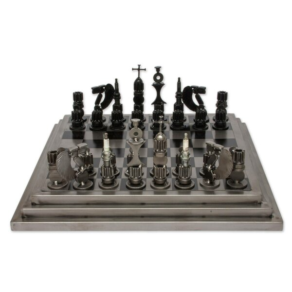 Artisan Crafted Rustic Warriors Chess Set by Novica