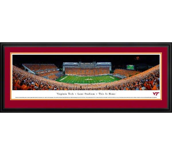NCAA Virginia Tech - Football - 50 Yard Line by James Blakeway Framed Photographic Print by Blakeway Worldwide Panoramas, Inc