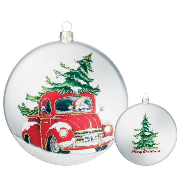 Truck with Tree Disc Ornament (Set of 6) by The Holiday Aisle