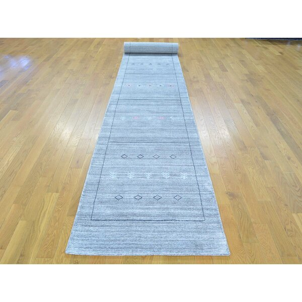 One-of-a-Kind Becker Handwoven Grey Wool/Silk Area Rug by Isabelline
