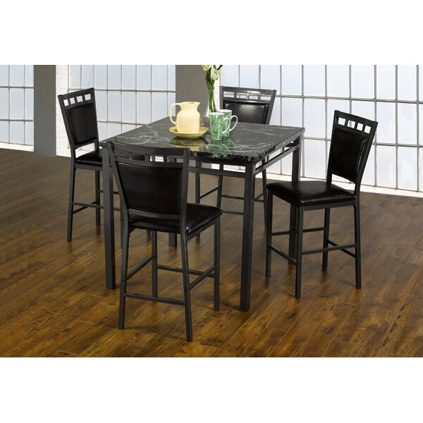 Kistner Marble 5 Piece Dining Set by Red Barrel Studio
