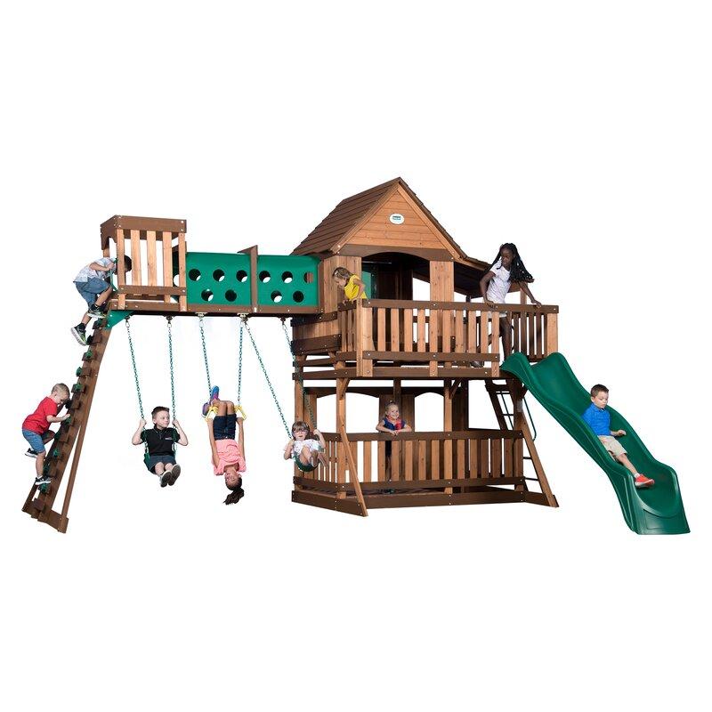 Backyard Discovery Woodridge Elite All Cedar Wooden Swing
