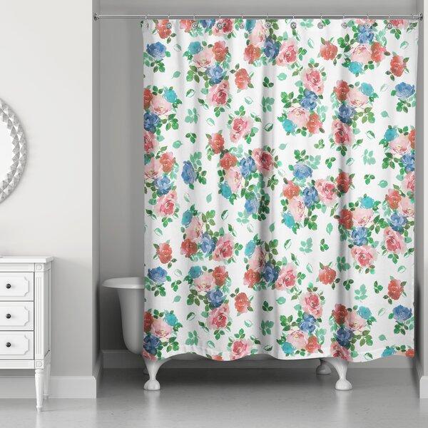 Filleti Vintage Rose Garden Shower Curtain by August Grove