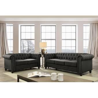 Everly Quinn Harvill Standard Configurable Living Room Set Reviews Wayfair