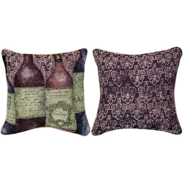 Sanctuary Wine 5 Bottles Throw Pillow by Manual Woodworkers & Weavers