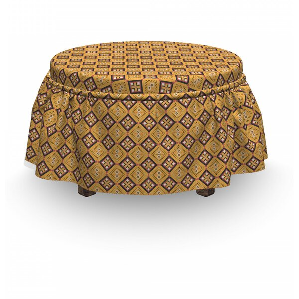 Tile Ottoman Slipcover (Set Of 2) By East Urban Home
