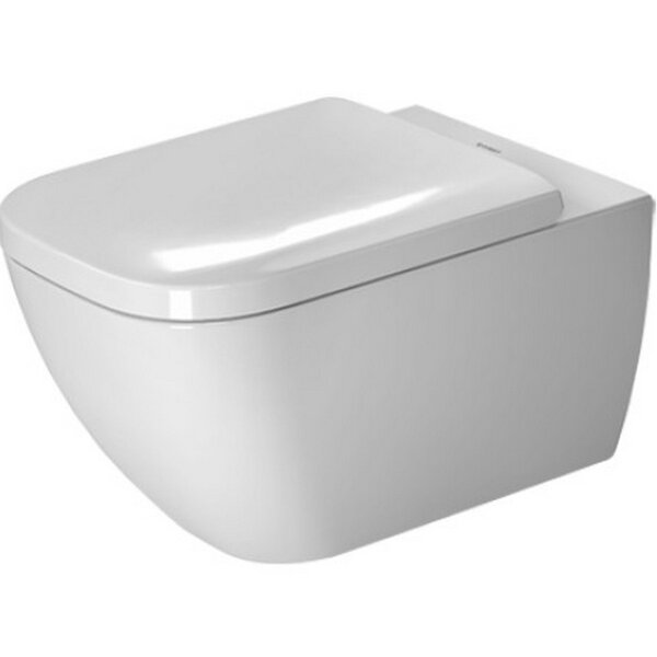 Happy D.2 Wall Mounted Washdown Rimless 1.6 GPF Elongated Toilet Bowl by Duravit
