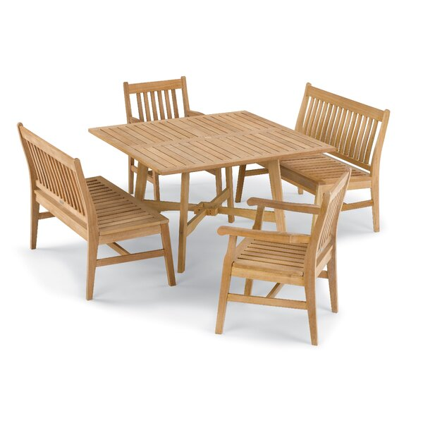 Myres 5 Piece Outdoor Dining Set by Beachcrest Home