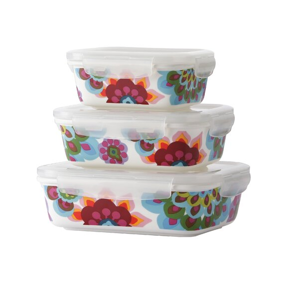 Gala Porcelain 3 Container Food Storage Set by French Bull