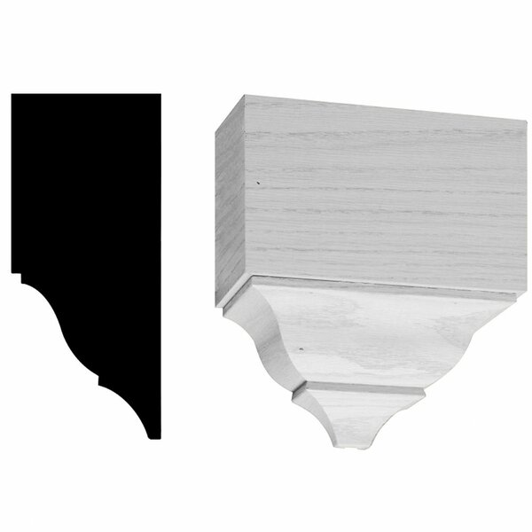 3-1/4 in. x 7-1/2 in. x 7-1/4 in. Wood Mid-Crown Block Moulding by Manor House