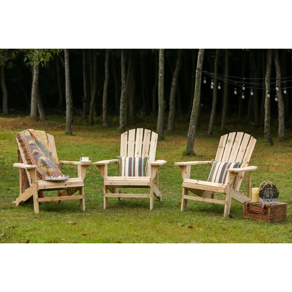Stebbins Solid Wood Adirondack Chair by Millwood Pines Millwood Pines